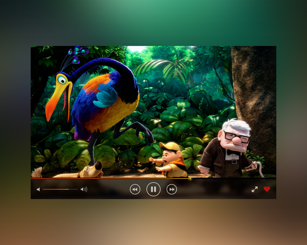 iOS Video Player PSD