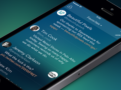 iOS iPhone Twitter App Feed PSD