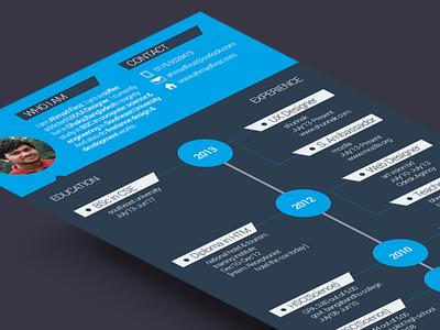 Creative & Flat Resume Template PSD