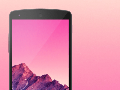 PSD - Android Device Nexus 5 Template
