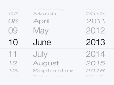Free iOS 7 Date Picker Vector