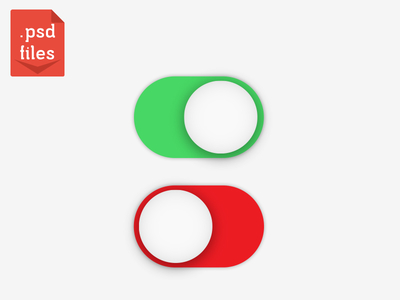 Clean UI Design Switch Buttons PSD