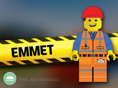 Emmet Lego Movie Free Vector
