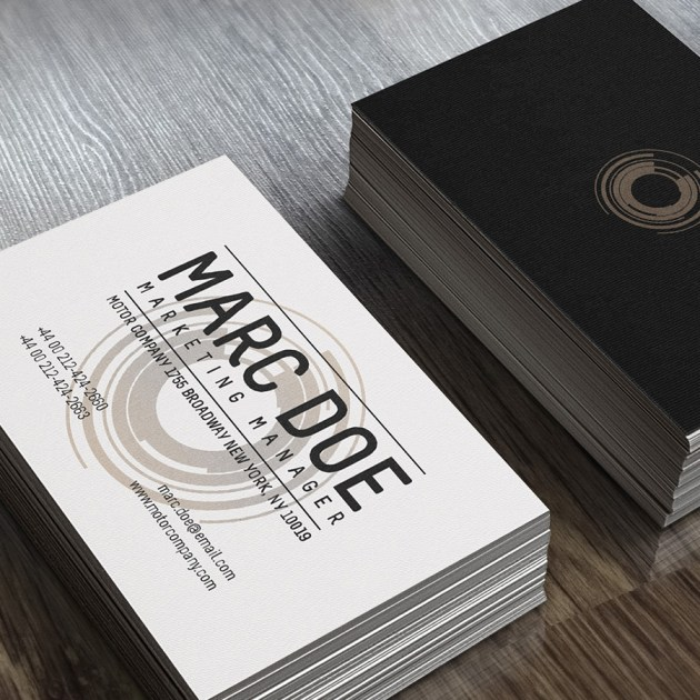 Free Business Card Template PSD For Print -5