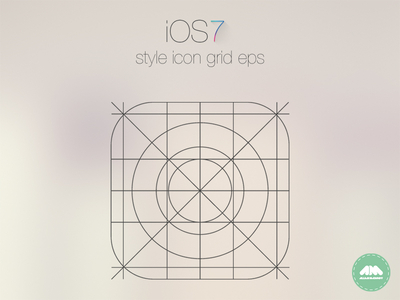 IOS7 App Icon Grid template Vector