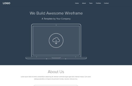 PSD-Flat-WireFrame-For-Web-Layout-539x350