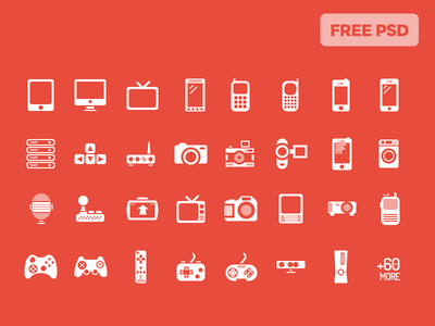 PSD – The Gadgets – 60 Icons for iOS