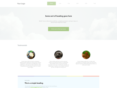Landing Page Template PSD Free Download