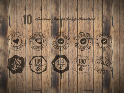 10 Badges PSD Free Download