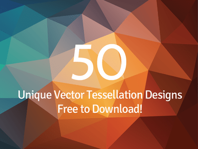 Abstract Tessellation Polygon Backgrounds Vector