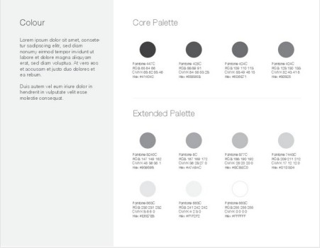 Brand Color Palette Style Guide Template illustrator