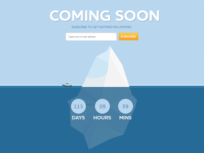 Coming Soon Page Template Design PSD Download