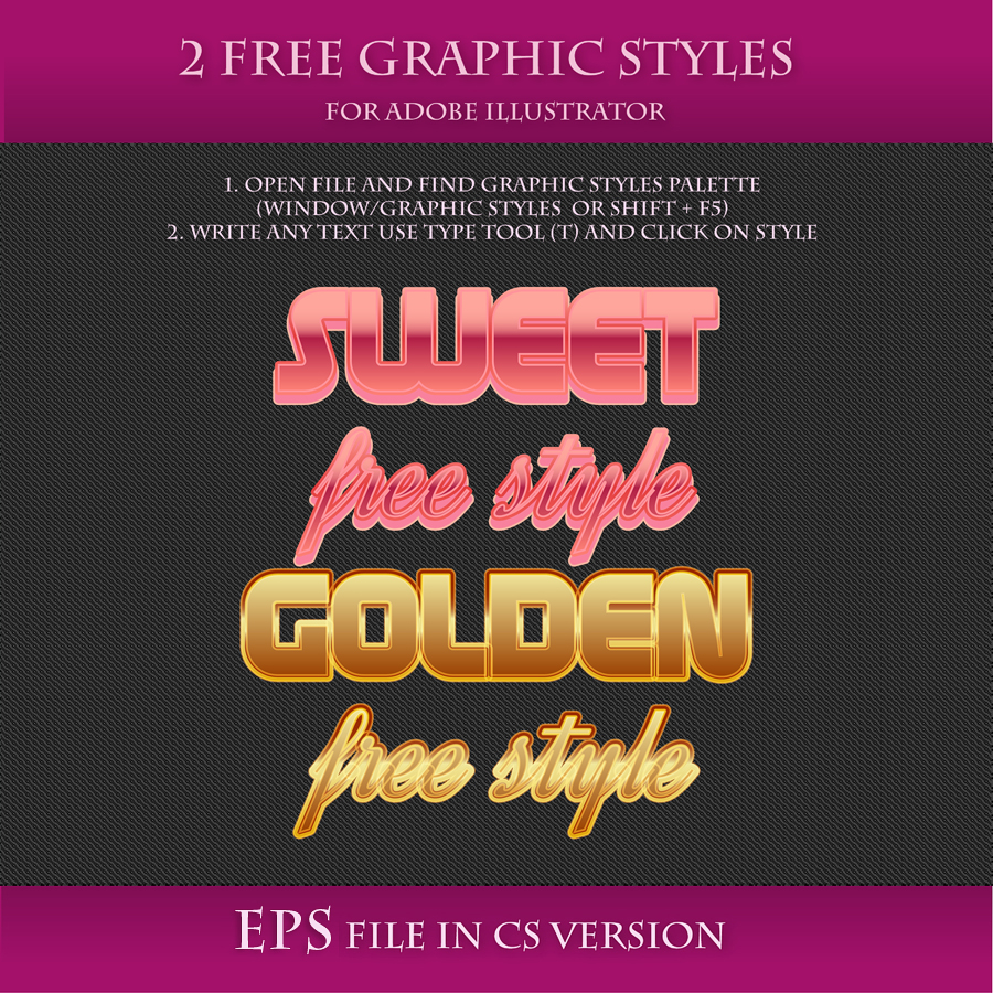 FREE Vector Graphic Styles for Adobe Illustrator