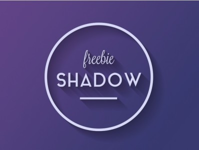 Flat Long Shadow Style Photoshop PSD