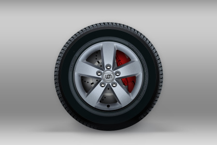 Free Car Tyre Icon PSD
