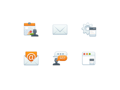 Free Chat Icons PSD File