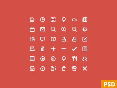Free Glyphs Icons Vector PSD