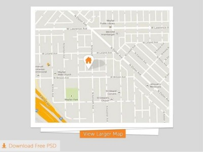 Free Map Folded PSD Download