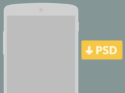 Free Nexus 5 PSD for Wireframing
