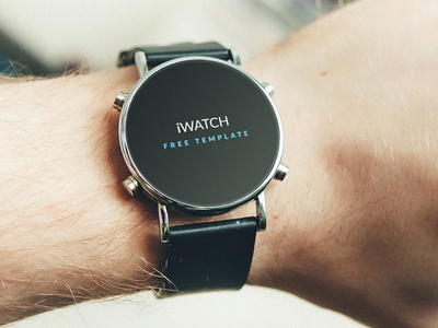 Free iWatch PSD Template Download