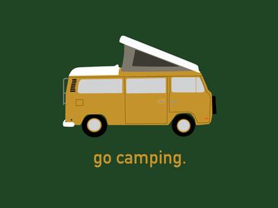 Go Camping Westfalia Vector AI