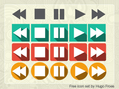 Media Vedio Music Player Button Icons Vector EPS
