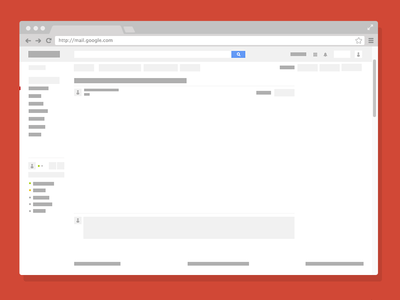 Minimal Gmail Mockup PSD