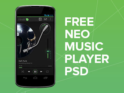 Music Player UI & Buttons PSD Download