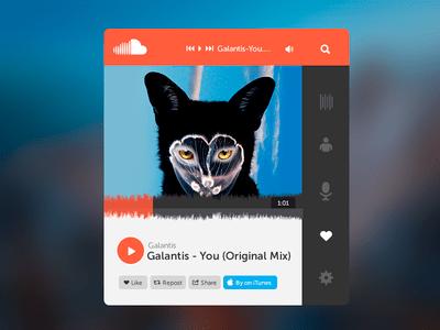 SoundCloud Widget Free PSD