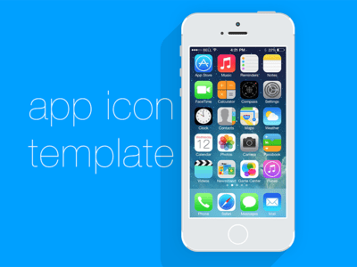 iPhone Ios App Icon Template