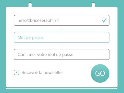 Sign-Up Register Form PSD Download