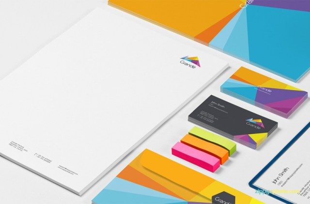 8 Free Photorealistic Stationery Branding PSD Mockups download