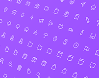 Set of Line & Solid 16px Grid Icons Vol1