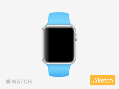 Apple Watch .sketch iWatch Mockup Template