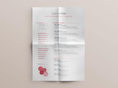 CV Design Free Resume template PSD - vol.4