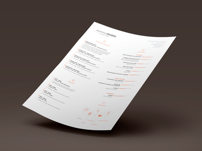 CV Design Resume Template Free PSD – VOL.1
