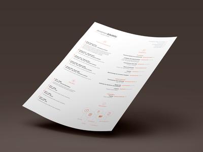 CV Design:Resume Template Free PSD