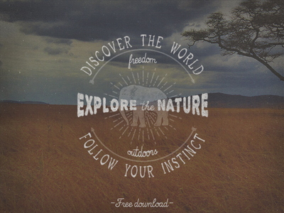 Explore Nature Logo PSD & Vector AI