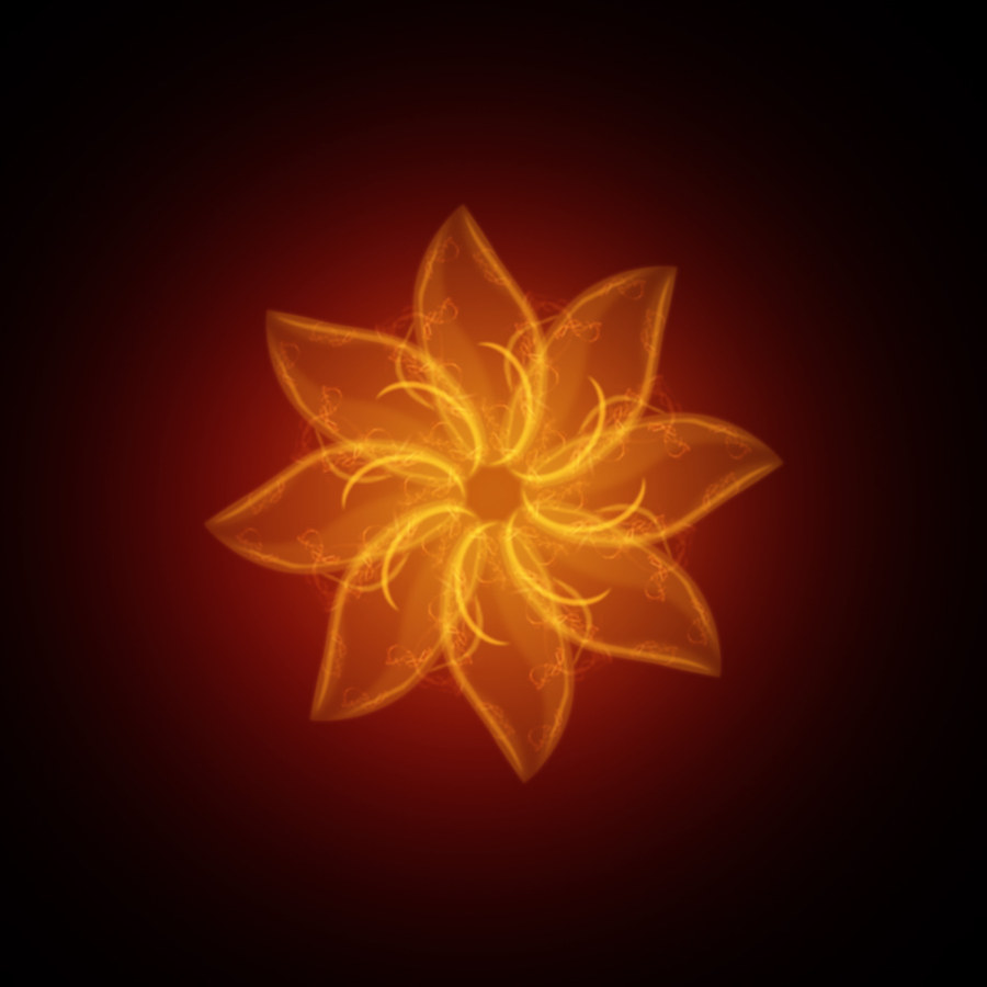 Flaming flowers PSD