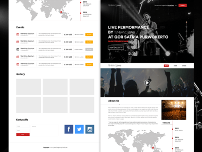 Free Band Website PSD Template