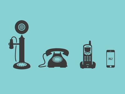 Free Phone Icon Set Vector AI
