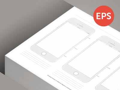 Free Printable iPhone 6 Template Vector EPS File