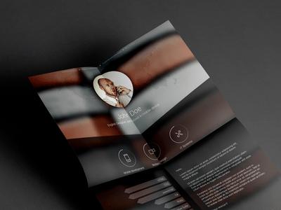 Free Resume template PSD – Vol.2