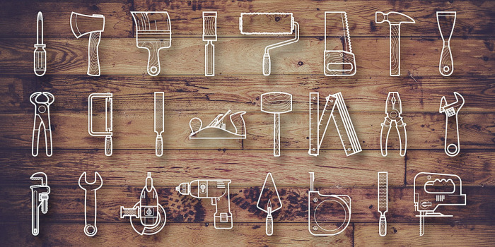 Free Tools icon set Vector PSD