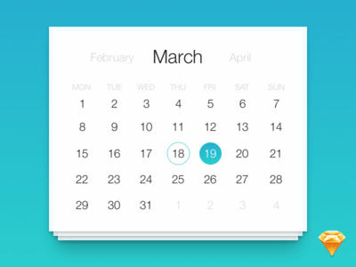 Free date picker for Sketch App