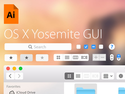 Free Illustrator UI Template for OS X Yosemite
