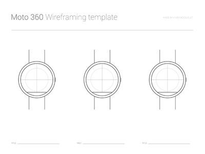 PSD Moto 360 Wireframing Template