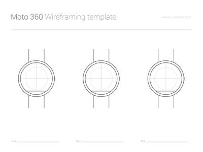 PSD Moto 360 Wireframing Template