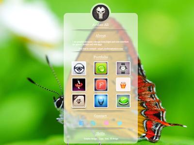 Profile UI Design PSD