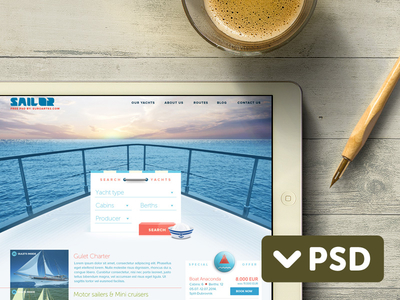 Sailor-Free-PSD-Theme-boat-sea-sailing